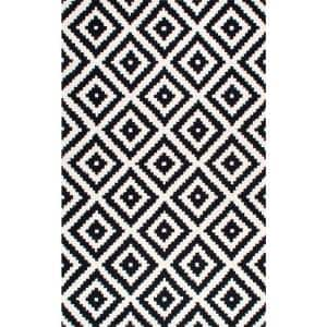 Kellee Contemporary Black 9 ft. x 12 ft. Area Rug