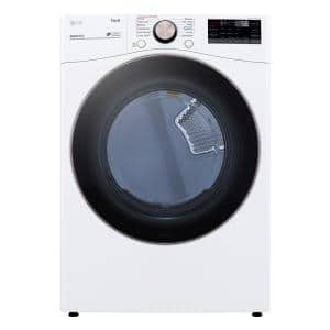 7.4 cu. ft. Ultra Large White Smart Gas Vented Dryer with Sensor Dry, TurboSteam & Wi-Fi Enabled