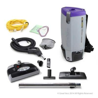 NEW Super Coach Pro 10 qt. Backpack Vacuum Cleaner with Power Head