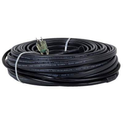 100 ft. Heating Cables for Pipes and Roof De-Icing, Self-Regulating with Built-in Thermostat, 120-Volt, 1200-Watt