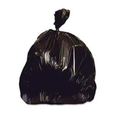 30 in. x 33 in. 30 Gal. 0.85 mil Black Easy Flaps Trash Bags (40-Bags/Box, 6-Boxes/Carton)