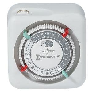 15 Amp 24-Hour Indoor Plug-In Timer, White
