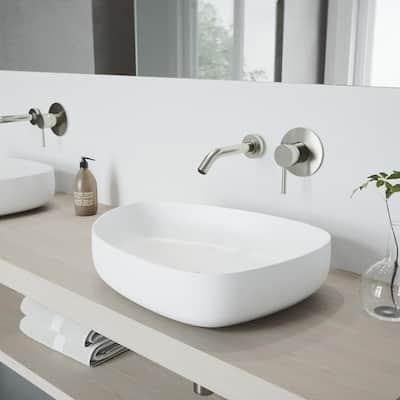 Olus Single-Handle Wall Mount Bathroom Faucet in Brushed Nickel