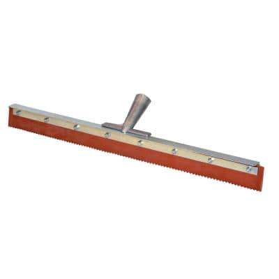 24 in. Rubber Notched Micro Topping Floor Squeegee