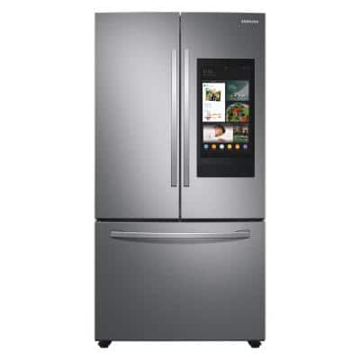 27.7 cu. ft. French Door Refrigerator in Stainless Steel with Family Hub