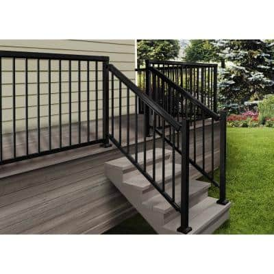6 ft. Black Aluminum Stair Picket and Spacer