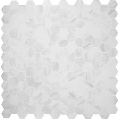 Kolasus White Hexagon 12 in. x 12 in. x 10mm Matte Porcelain Mesh-Mounted Mosaic Tile (8 sq. ft. / case)