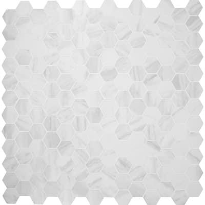 Kolasus White Hexagon 12 in. x 12 in. x 10mm Matte Porcelain Mesh-Mounted Mosaic Tile (8 sq. ft. / case)