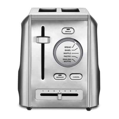 Custom Select 2-Slice Stainless Steel Toaster with Crumb Tray