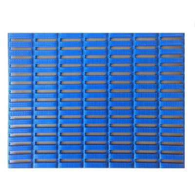 Blue 3 ft. x 16.5 ft. PVC Open Grid Safety and Comfort Mat