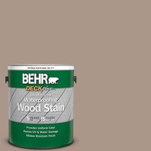 1 gal. #N230-4 Chic Taupe Solid Color Waterproofing Exterior Wood Stain