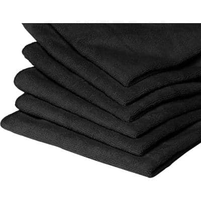 10 Microfiber Towels in Black