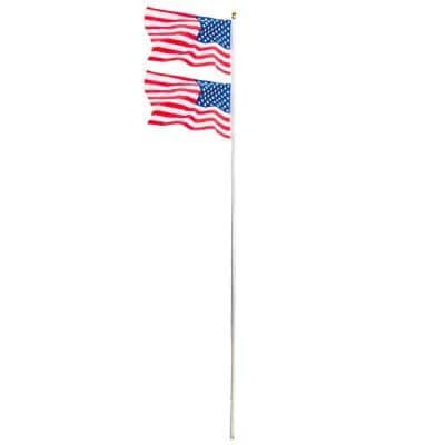 20 ft. Aluminum Sectional Flagpole with 3 ft. x 5 ft. U.S. Flag
