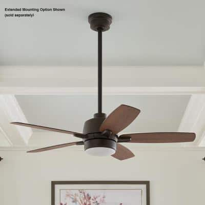 Fawndale 46 in. Indoor Integrated LED Bronze Ceiling Fan with Light Kit, 5 Reversible Blades and Remote Control