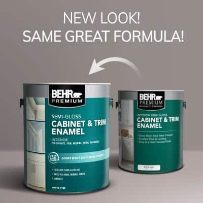 1 gal. #PR-W14 Bit of Sugar Semi-Gloss Enamel Interior Cabinet and Trim Paint