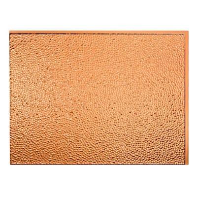 Hammered 18.25 in. x 24.25 in. Vinyl Backsplash Panel in Polished Copper (5-Pack)