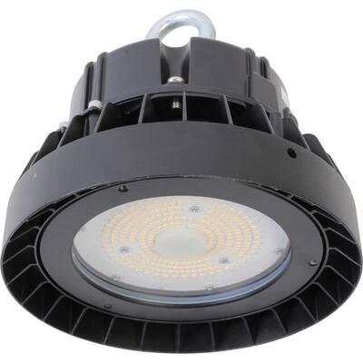 UFO High Bay 8.3125 ft. 400-Watt Equivalent Integrated LED Black High Bay Light, 5000K