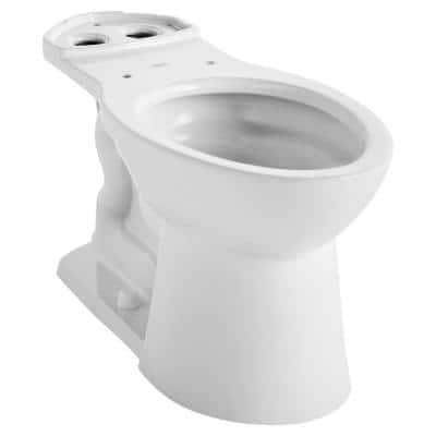 Vormax Plus Right Height Elongated Toilet Bowl Only in White