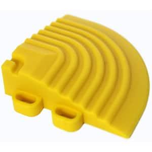 2.5 in. x 2.5 in. Citrus Yellow Corner Edging for 15.75 in. Swisstrax Modular Tile Flooring (2-Pack)