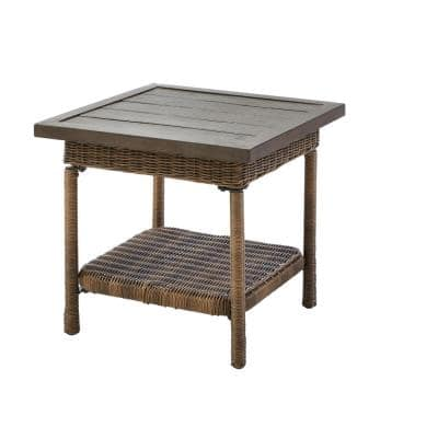 Beacon Park Steel Wicker Outdoor Accent Table