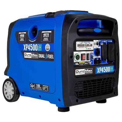 4500-Watt 223 cc Push Button/Remote/Recoil Start Dual Fuel Digital Inverter Hybrid Portable Generator
