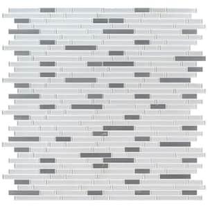 Lucid Sky Interlocking 12 in. x 12 in. x 4 mm Glass/Metal Mesh-Mounted Mosaic Tile (0.98 sq. ft.)