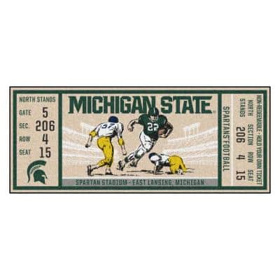 Michigan State University Sports Rugs Rugs The Home Depot