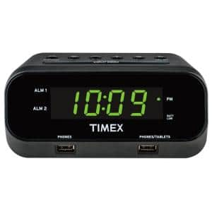 RediSet Dual Alarm Clock with Dual USB Charging and Extreme Battery Backup