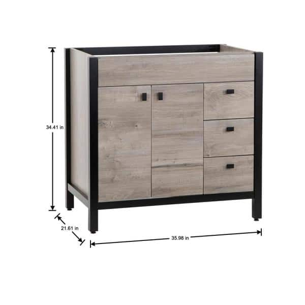 Home Decorators Collection Greyford 36 In W X 22 In D Bathroom Vanity Cabinet Only In White Washed Oak Gd36 Wo The Home Depot