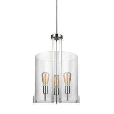Dawes 3-Light Brushed Nickel Pendant