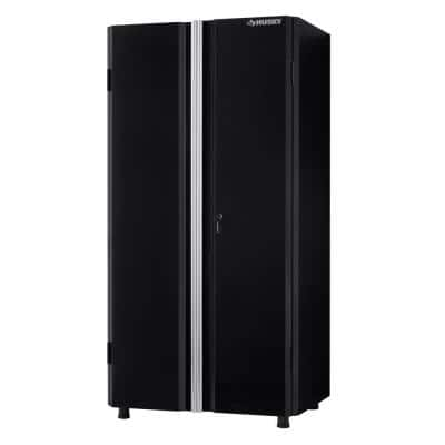 Husky Ready To Assemble 24 Gauge Steel Garage Gear Cabinet In Black 36 W X 72 H D G3624w Us The Home Depot