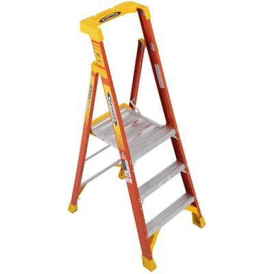3 ft. Fiberglass Podium Step Ladder (9 ft. Reach), 300 lbs. Type IA Duty Rating