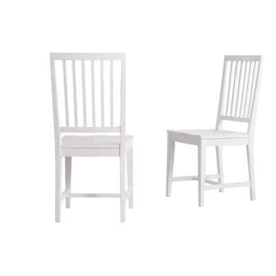 Vienna White Wood Side Chairs (Set of 2)