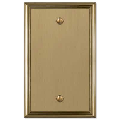 Rhodes 1 Gang Blank Metal Wall Plate - Brushed Bronze
