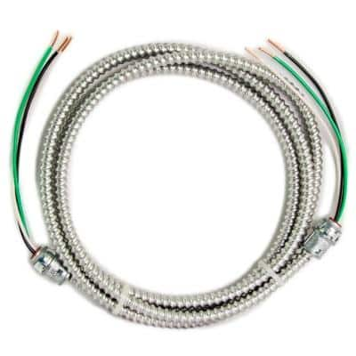 15 ft., 12/2 Solid CU MC (Metal Clad) Armorlite Modular Assembly Quick Cable Whip