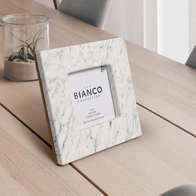 Keith Square Italian Carrara White Marble Picture Frame