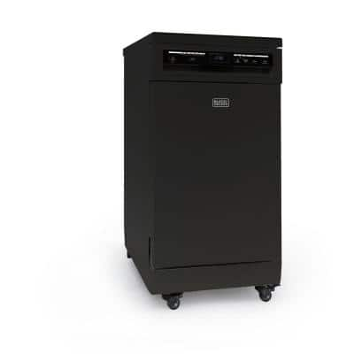 18 in., Black, 120 Volt, Portable Dishwasher With 8-Place Setting Capacity