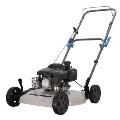 20 in. 150 cc Gas Recoil Start Walk Behind Push Mower with 5-Position Height Adjustment