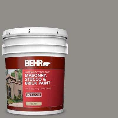 5 gal. #PFC-69 Fresh Cement Flat Interior/Exterior Masonry, Stucco and Brick Paint