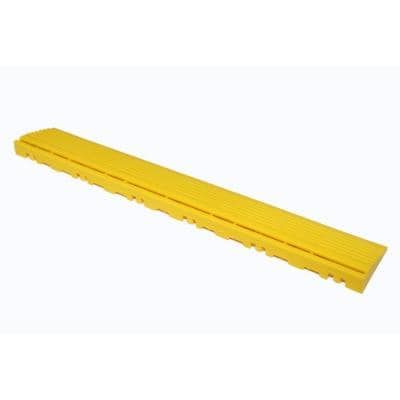 15.75 in. Citrus Yellow Pegged Edging for 15.75 in. Modular Tile Flooring (2-Pack)