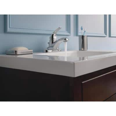 Foundations 4 in. Centerset Single-Handle Bathroom Faucet in Chrome