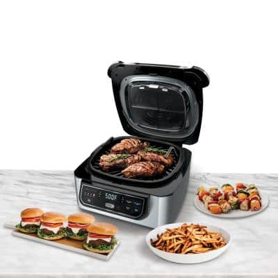 Foodi 5-in-1 Indoor Grill with 4 Qt. Air Fryer, Roast, Bake, Dehydrate and Cyclonic Grilling (AG301)