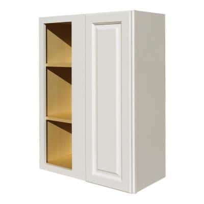 La. Newport Assembled 27x36x12 in. 1-Door Wall Blind Corner Cabinet with 2-Shelves in Classic White