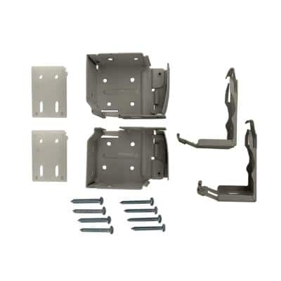 2.5 in. Cordless Faux Wood Side Mounting Brackets Set in Gray