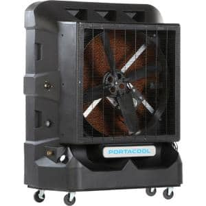 Cyclone 160 8000 CFM 1-Speed Portable Evaporative Cooler for 2100 sq. ft. with 36 in. Fan Blade