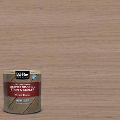 1 qt. #ST-160 Rose Beige Semi-Transparent Waterproofing Exterior Wood Stain and Sealer