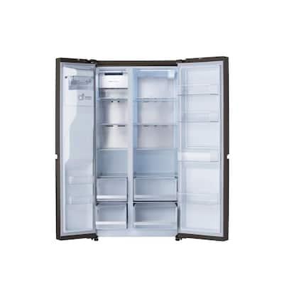 27 cu. ft. Side by Side Refrigerator with Door-in-Door, Dual Ice with Craft Ice in PrintProof Black Stainless Steel