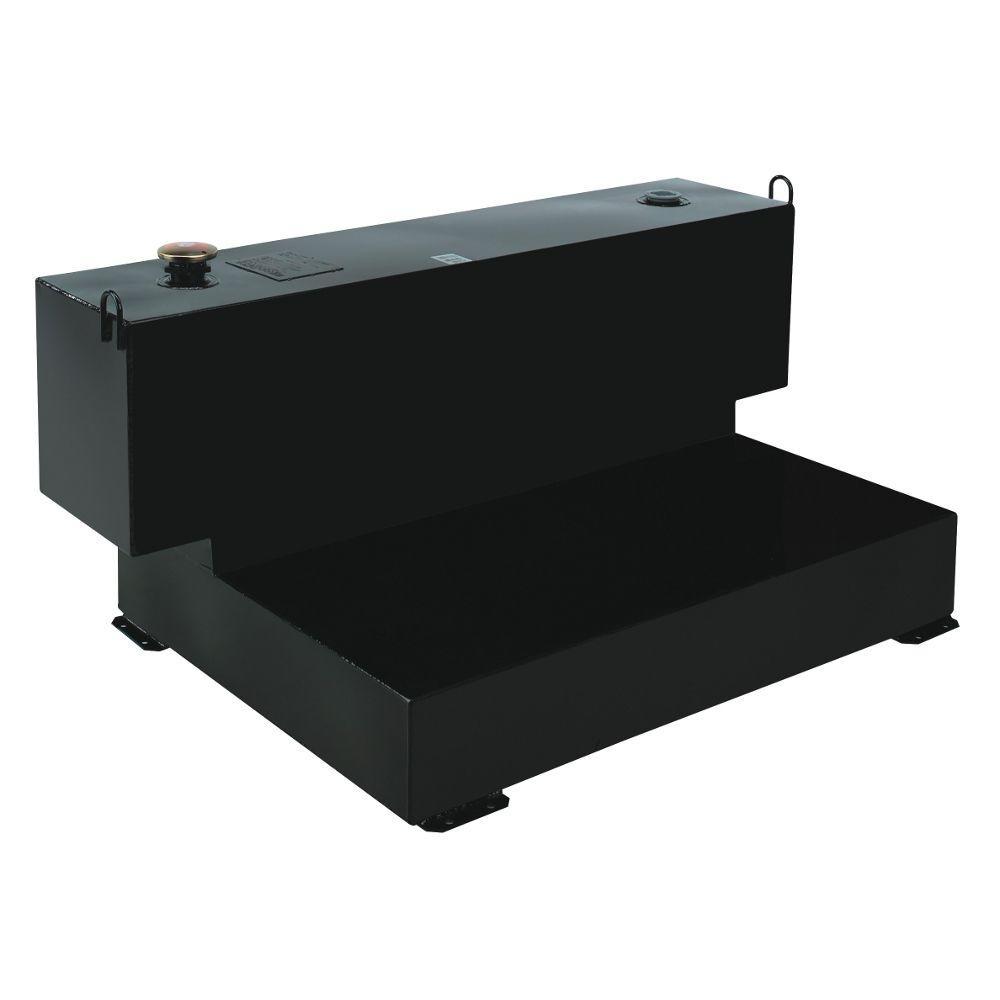 Short-Bed L-Shaped Steel Liquid Transfer Tank in Black