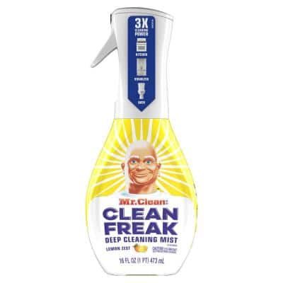 Clean Freak 16 oz. Lemon Zest Scent Deep Cleaning Mist Multi-Surface Spray Starter Kit (2-Pack)
