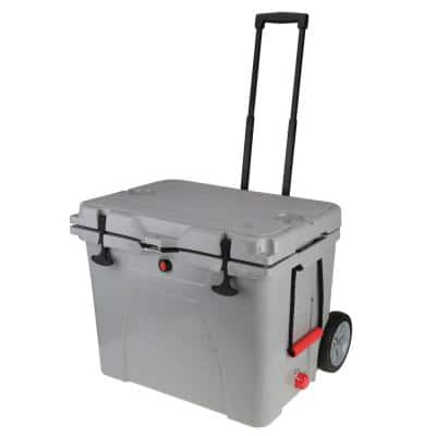 60 Qt. High-Performance Cooler with Heavy-Duty Wheels and Collapsible Handle